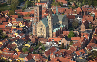 Ribe Cathedral and the city