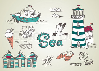 Summer Holidays Doodles! Vector illustration