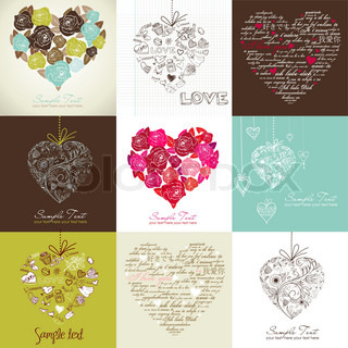 Greeting cards with heart