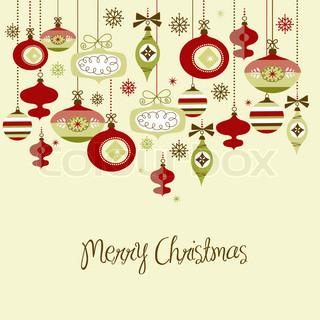 Retro Christmas Ornamets