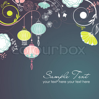 Lampions Stylish floral background