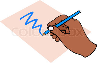 Vector of 'drawing, finger, pencil'