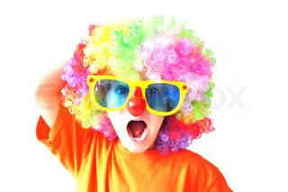 Bild von 'Clown, Europide, europid'
