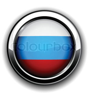 Vector illustration of national russian flag icon