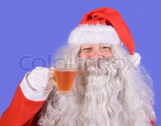 Santa Claus with tea