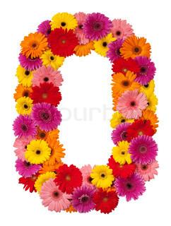 Letter O - blomst alfabet isoleret på hvid baggrund