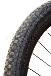 mountain bike tire isolated on white