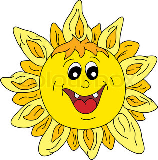 vector - happy sun isolated on background