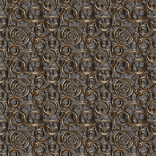Seamless texture/background made of golden and silver rings