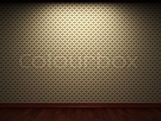 illuminated fabric wallpaper made in 3D