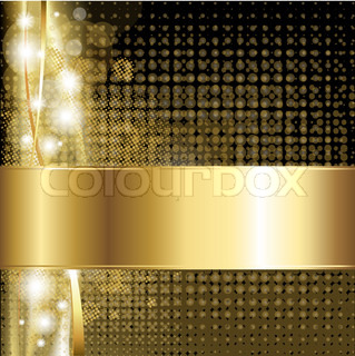 Gold Luxury Background, Vector Illustration