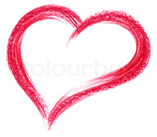 red crayon heart