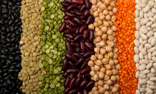 mixed dried beans paved strips, for a colorful background