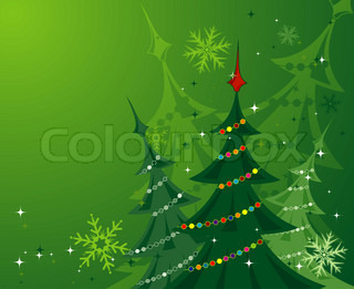 Christmas background with trees, element for design,