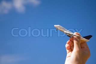 air transport or delivery service concept, focus point on aircraft selective