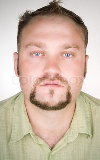 closeup portrait adult with beard special photo toned and vignetting