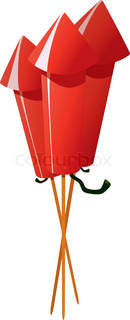 Vektor af 'raketter, fyrværkeri, nytår'