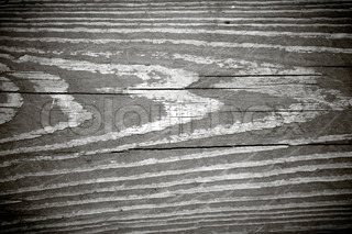 A Weathered Wood Grain Texture In Black And White With