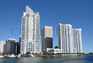 Highrise Buildings in Miami Downtown, Florida USA
