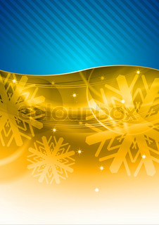 christmas background in the blue and gold