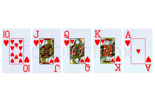 playing cards isolated on white