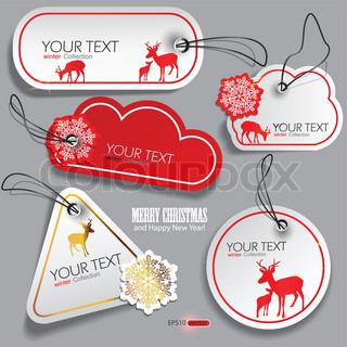 Sæt af vinteren bobler , klistermærker , etiketter, tags Vectorillustration
