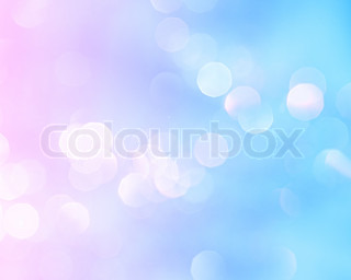 Bright holiday background bokeh with magic blur blue pink lights