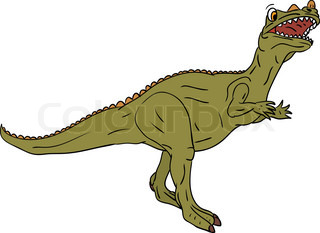 vector -color dinosaur isolated on background