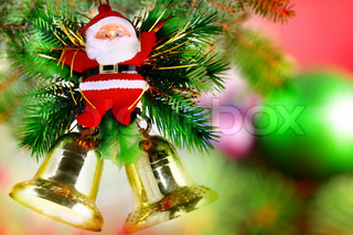Christmas and New Year decoration-Santa Claus and Jingle Bells.
