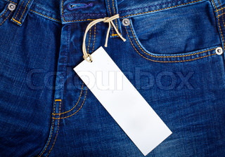 Jeans with a price tag