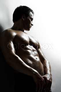 the very muscular handsome sexy guy on