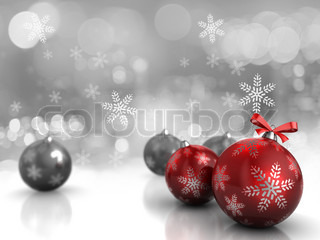 Abstract 3d illustration of background with christmas balls