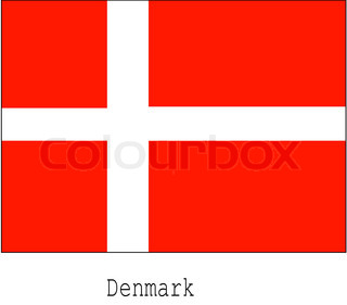 Vector of 'denmark, flag, danish'