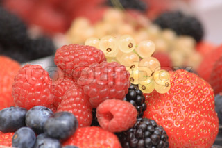 forest fruit as very nice food natural background