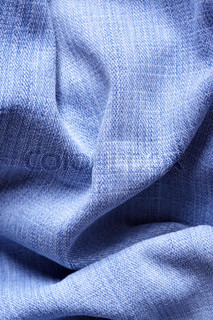 Jeans fabric with folds, may be used as background