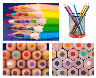 Color pencils Texture or background