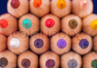 Close-up Color pencils Texture or background