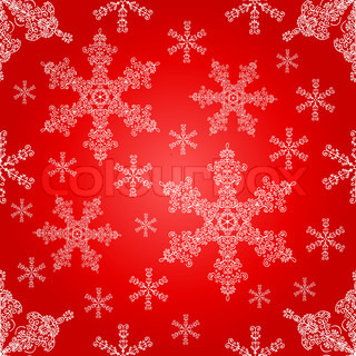 Lace snowflakes seamless pattern Christmas vector background