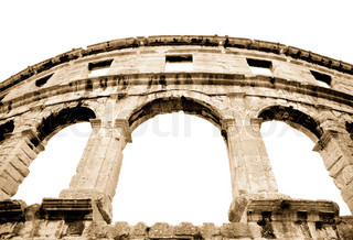 details of colosseum - great italian landmarks series