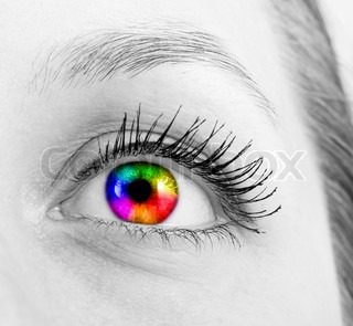 colourful human eye