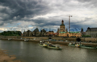 View on Dresden - german city ruined during World War II