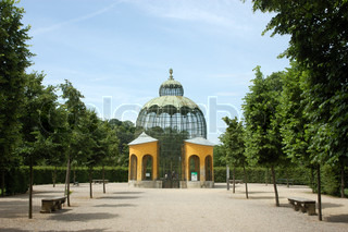 Pavilion in the Schonbrunn Park in Vienna, Austria