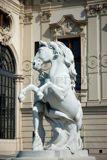 Statue at the Belvedere Palace in Vienna, Austria