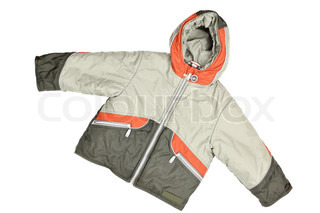 Children's wear - winter jacket isolated over white background
