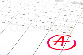 School and Education Test paper with good result