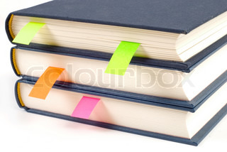 School and Education Books with bookmark isolated on white background