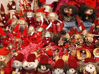 Handmade gnome figures