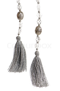Beautiful tassel for decorated your curtain, isolated on white background
