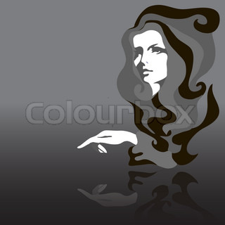 Fashion model Vector illustration Woman's face