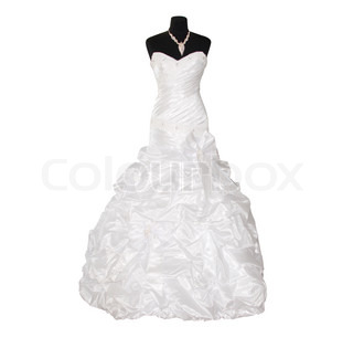 wedding dress isolated on white background